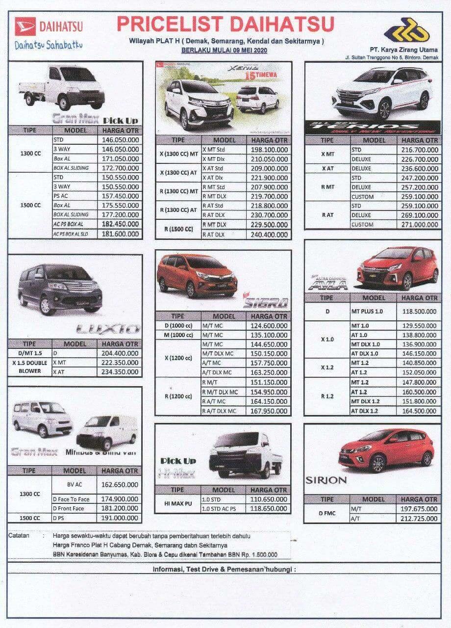 Harga Mobil Daihatsu Dealer Daihatsu Grobogan