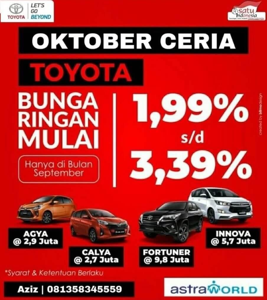 Promo terbaru oktober sales dealer toyota jember